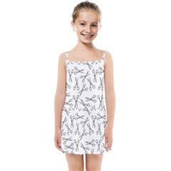 Scissors Pattern Kids Summer Sun Dress