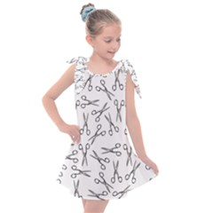 Scissors Pattern Kids  Tie Up Tunic Dress