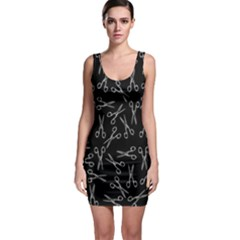 Scissors Pattern Bodycon Dress