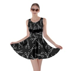 Scissors Pattern Skater Dress