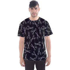Scissors Pattern Men s Sports Mesh Tee