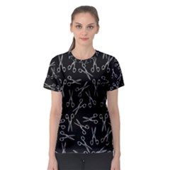 Scissors Pattern Women s Sport Mesh Tee