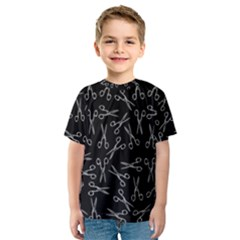 Scissors Pattern Kids  Sport Mesh Tee