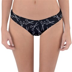 Scissors Pattern Reversible Hipster Bikini Bottoms
