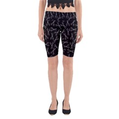 Scissors Pattern Yoga Cropped Leggings