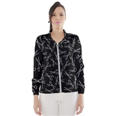 Scissors Pattern Windbreaker (women)