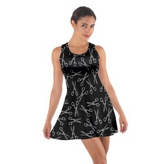 Scissors Pattern Cotton Racerback Dress