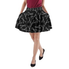 Scissors Pattern A Line Pocket Skirt