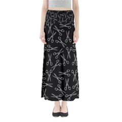 Scissors Pattern Full Length Maxi Skirt