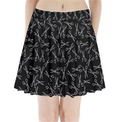Scissors Pattern Pleated Mini Skirt
