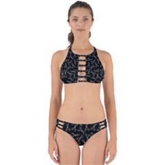 Scissors Pattern Perfectly Cut Out Bikini Set