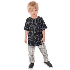 Scissors Pattern Kids Raglan Tee