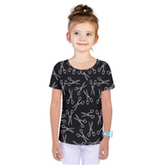 Scissors Pattern Kids  One Piece Tee
