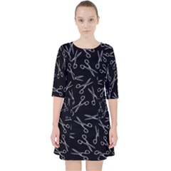 Scissors Pattern Pocket Dress
