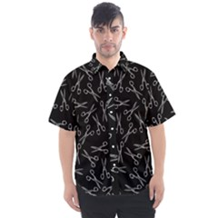Scissors Pattern Men s Short Sleeve Shirt