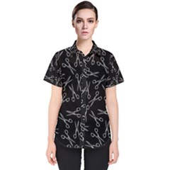 Scissors Pattern Women s Short Sleeve Shirt
