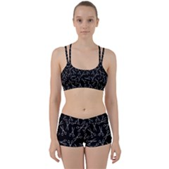 Scissors Pattern Women s Sports Set