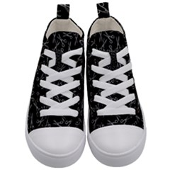 Scissors Pattern Kid s Mid Top Canvas Sneakers
