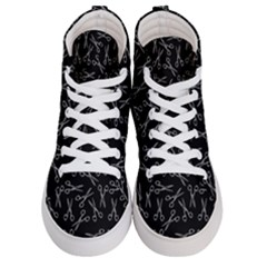Scissors Pattern Women s Hi Top Skate Sneakers