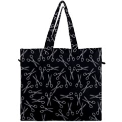 Scissors Pattern Canvas Travel Bag