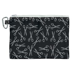 Scissors Pattern Canvas Cosmetic Bag (xl)