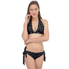 Scissors Pattern Tie It Up Bikini Set