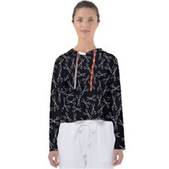 Scissors Pattern Women s Slouchy Sweat