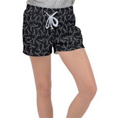 Scissors Pattern Women s Velour Lounge Shorts