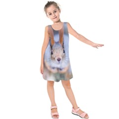 Squirrel Looks At You Kids  Sleeveless Dress