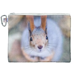 Squirrel Looks At You Canvas Cosmetic Bag (xxl) by FunnyCow