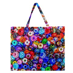 Colorful Beads Zipper Large Tote Bag
