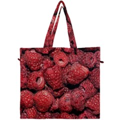Red Raspberries Canvas Travel Bag by FunnyCow