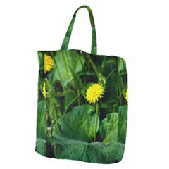Yellow Dandelion Flowers In Spring Giant Grocery Tote by FunnyCow