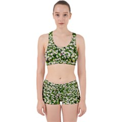 Green Field Of White Daisy Flowers Work It Out Gym Set by FunnyCow