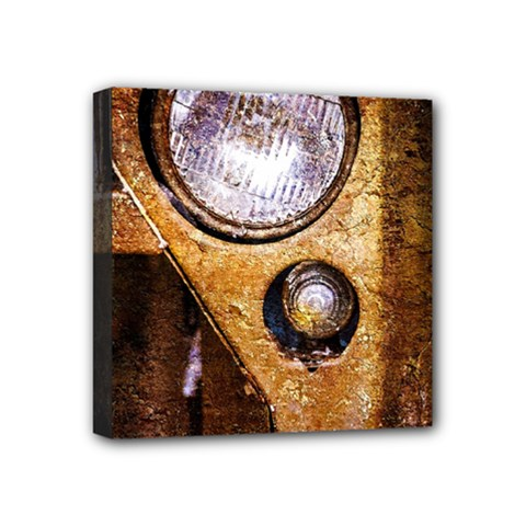 Vintage Off Roader Car Headlight Mini Canvas 4  X 4  by FunnyCow