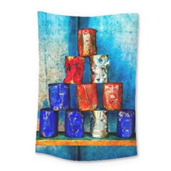 Soup Cans   After The Lunch Small Tapestry by FunnyCow