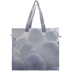 White Toy Balloons Canvas Travel Bag by FunnyCow