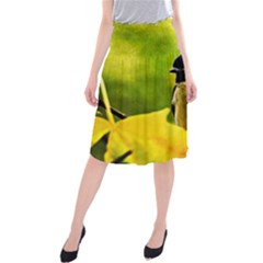 Tomtit Bird Dressed To The Season Midi Beach Skirt