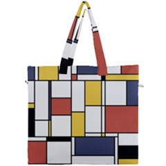 De Stijl Abstract Art Canvas Travel Bag by FunnyCow
