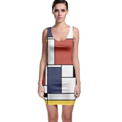 Neoplasticism Abstract Art Bodycon Dress