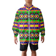 Distorted Colorful Shapes And Stripes                                         Wind Breaker (kids)