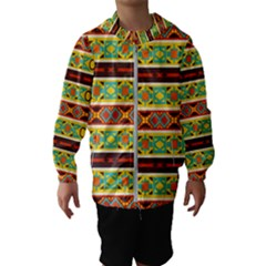 Ovals Rhombus And Squares                                          Hooded Wind Breaker (kids)