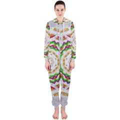 Fauna In Bohemian Midsummer Style Hooded Jumpsuit (ladies)