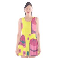 Candy Pink Hat Scoop Neck Skater Dress
