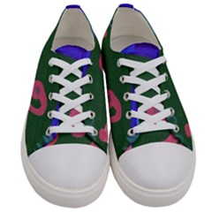 Pink Guitar Women s Low Top Canvas Sneakers