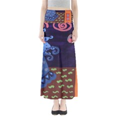 Jack In The Box Flower Full Length Maxi Skirt