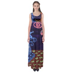 Jack In The Box Flower Empire Waist Maxi Dress