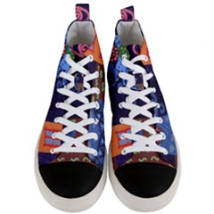 Jack In The Box Flower Men s Mid Top Canvas Sneakers