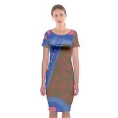 Hair Salon Floor Classic Short Sleeve Midi Dress