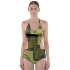 Four Squares Cut Out One Piece Swimsuit